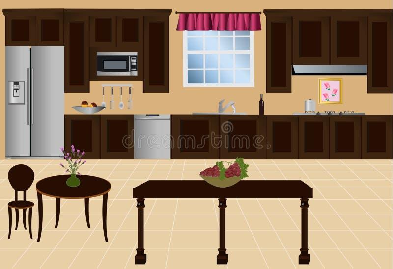 厨房向量 皇族释放例证