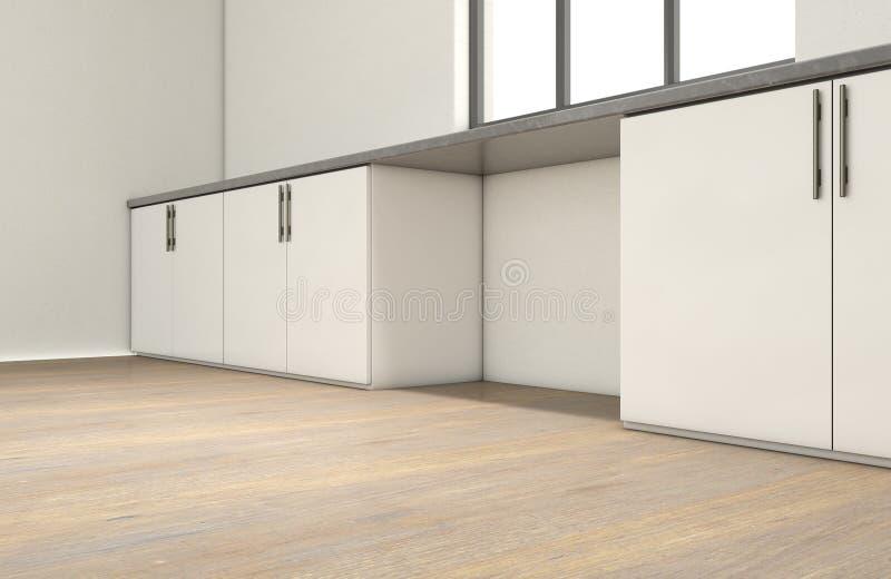 厨房和碗柜 向量例证
