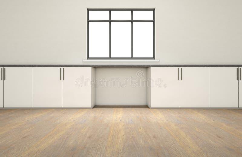 厨房和碗柜 库存例证