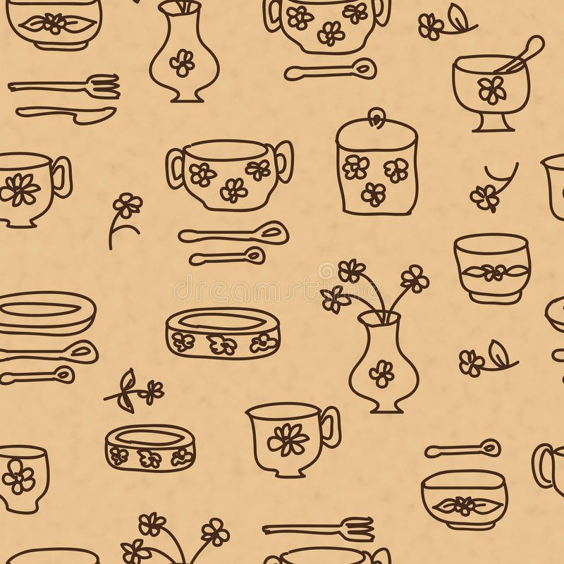厨房商品和器物象  库存例证