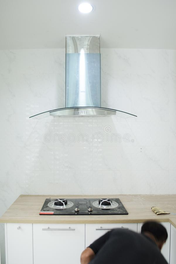 厨房器具设施 免版税库存图片