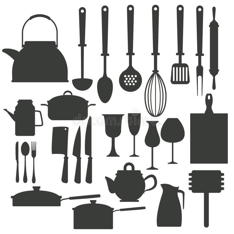 厨房器物象 皇族释放例证