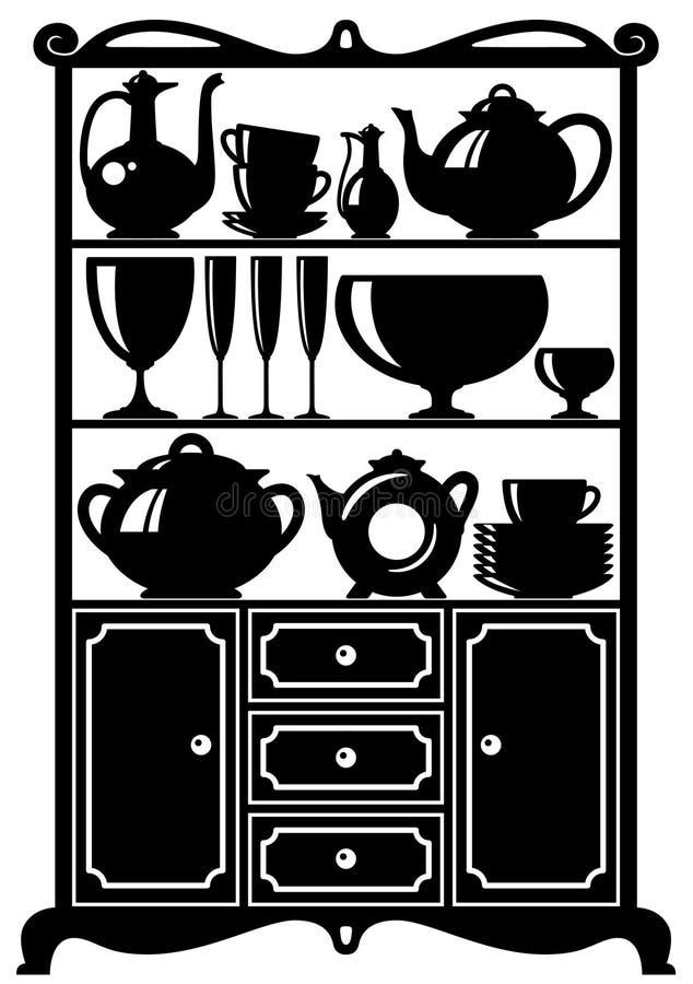 厨房器物 库存例证