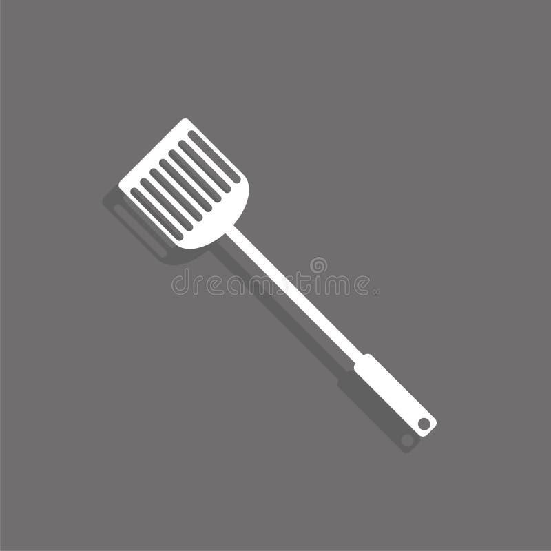 厨房小铲 适应图标 有条件图表表示法 库存例证