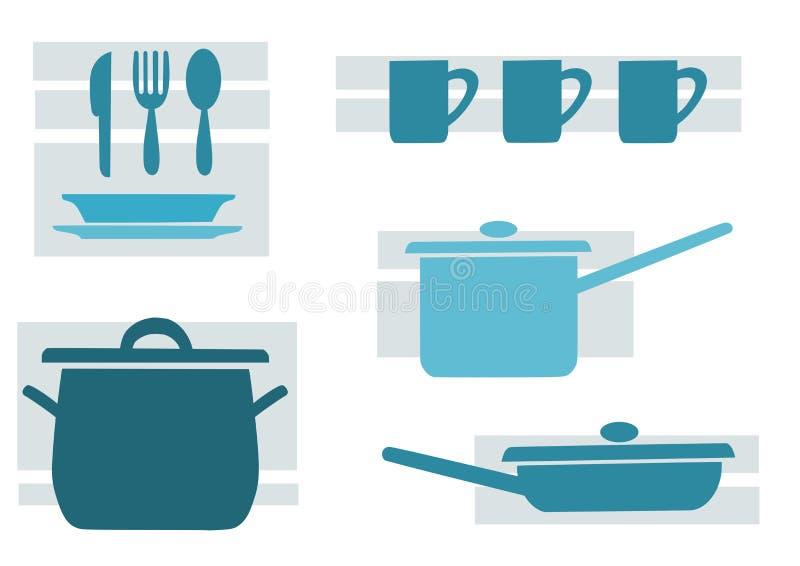 厨房工具 皇族释放例证