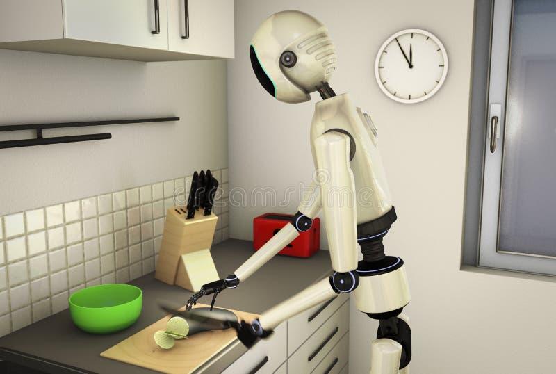 厨房机器人 库存例证