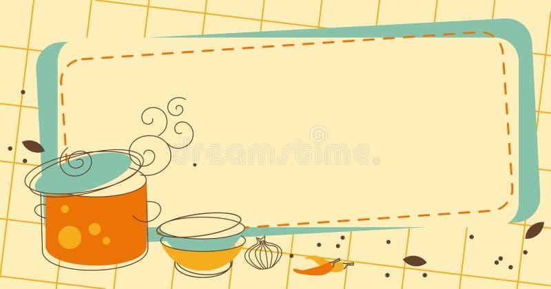 厨房框架 皇族释放例证