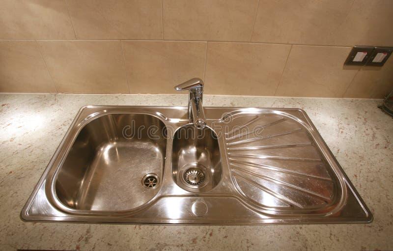 厨房水槽 免版税图库摄影