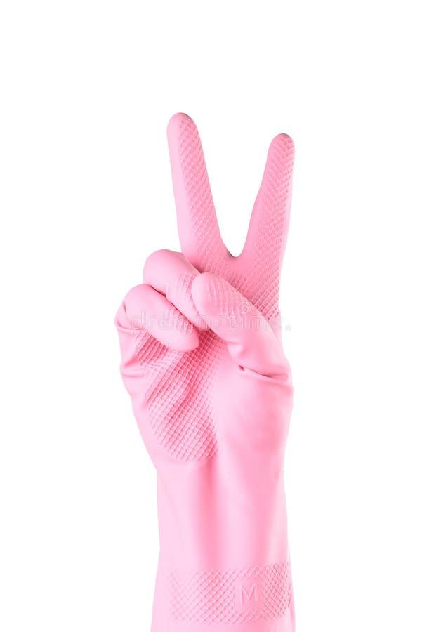 厨房清洗手套的用途手套 免版税库存照片