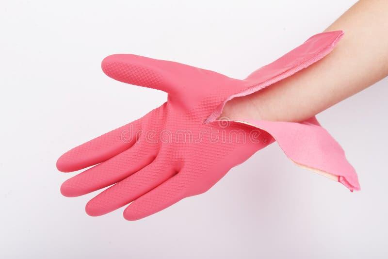 厨房清洗手套的用途手套 库存图片