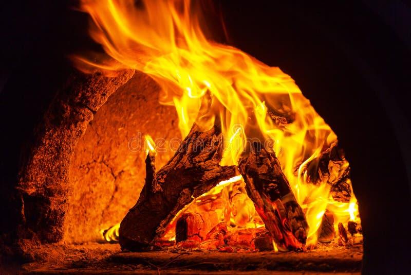 厨房火 免版税库存图片
