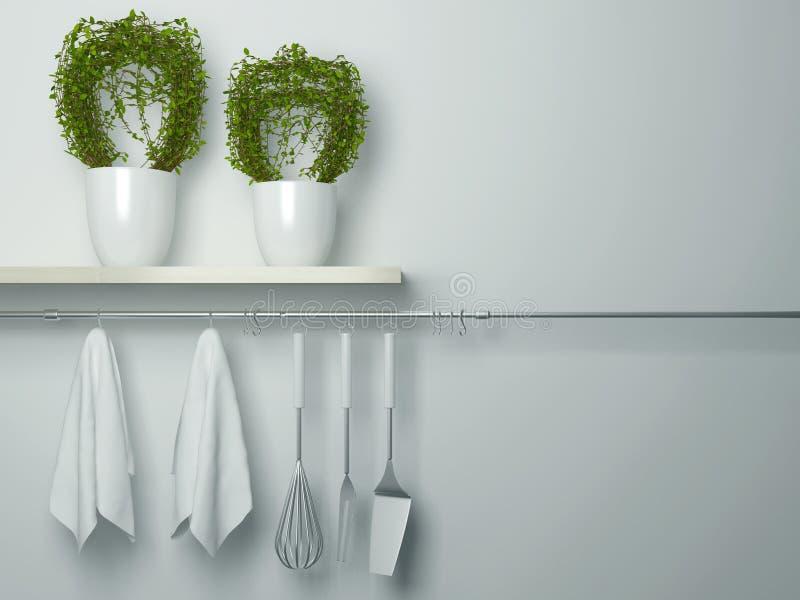 厨房炊事用具 免版税库存图片