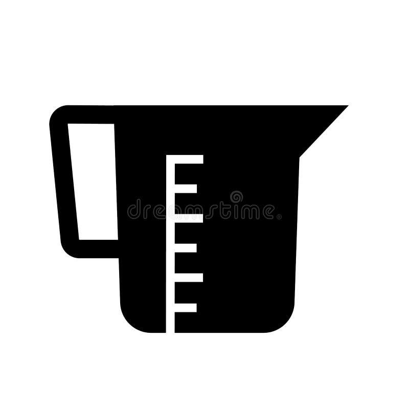 厨房烧杯象传染媒介 向量例证