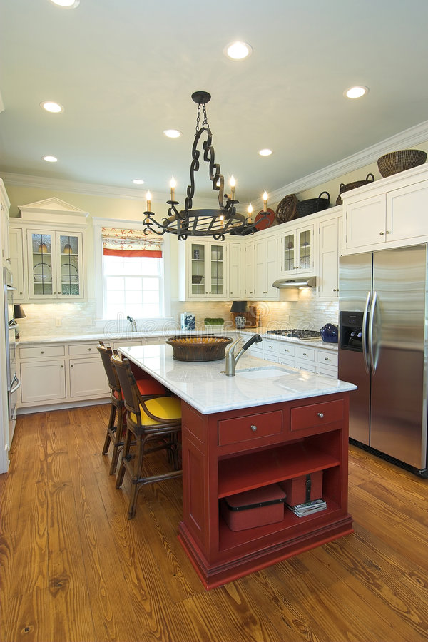 厨房现代土气 免版税库存图片