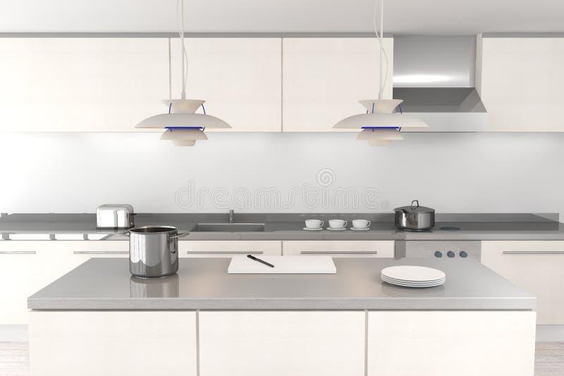 厨房现代白色 库存例证