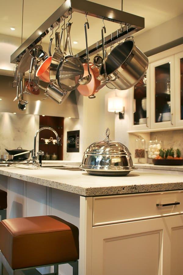 厨房用桌 库存照片