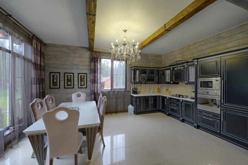 厨房的内部 库存图片