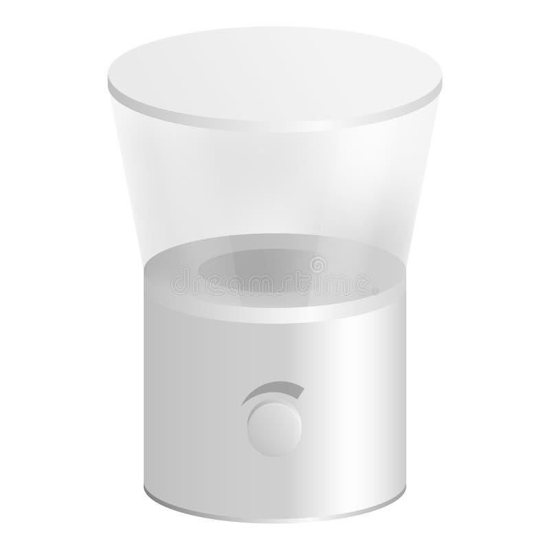 厨房磨咖啡器象,现实样式 库存例证