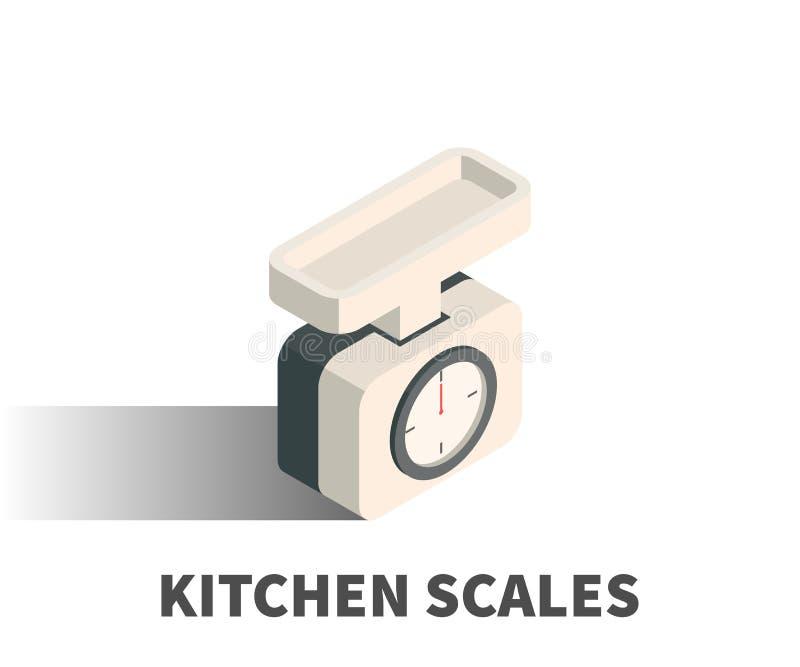 厨房称象,传染媒介标志 向量例证