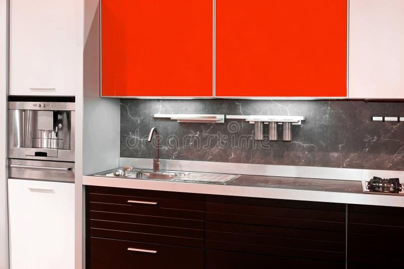 厨房红色 免版税图库摄影