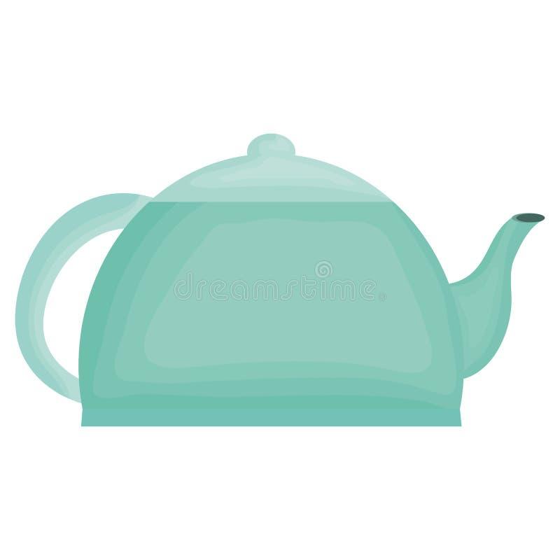 厨房茶壶元素象 皇族释放例证
