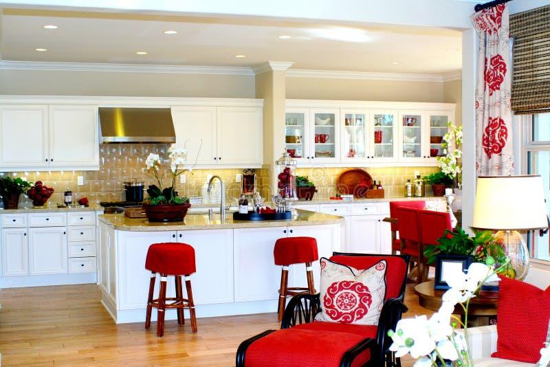 厨房视图 免版税库存照片