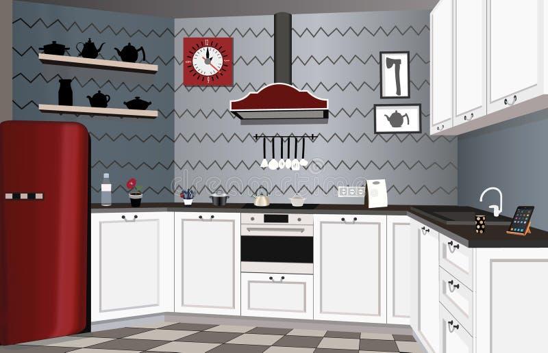 厨房设计 库存例证