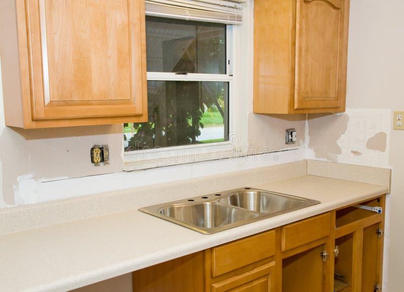 厨房进展改造 免版税库存照片