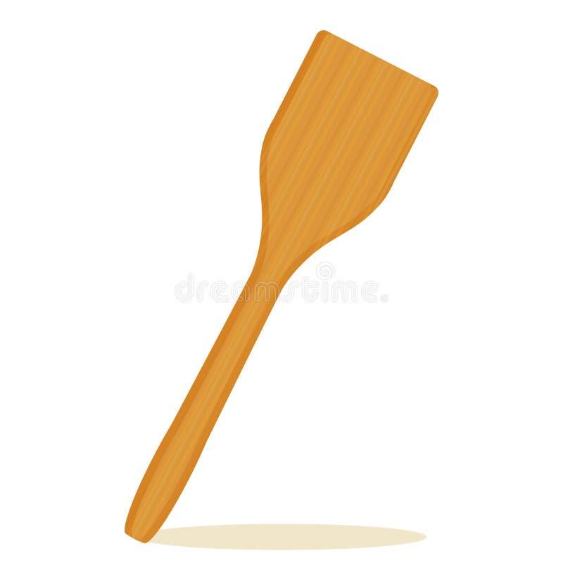 厨房铁锹,木纹理传染媒介 皇族释放例证