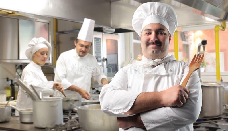 厨房餐馆 免版税库存图片
