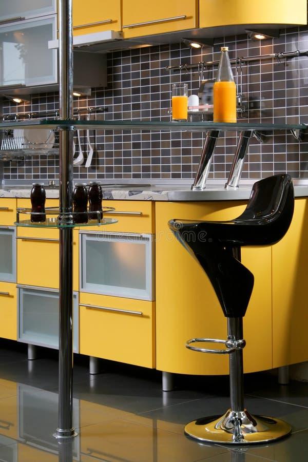 厨房黄色 库存照片