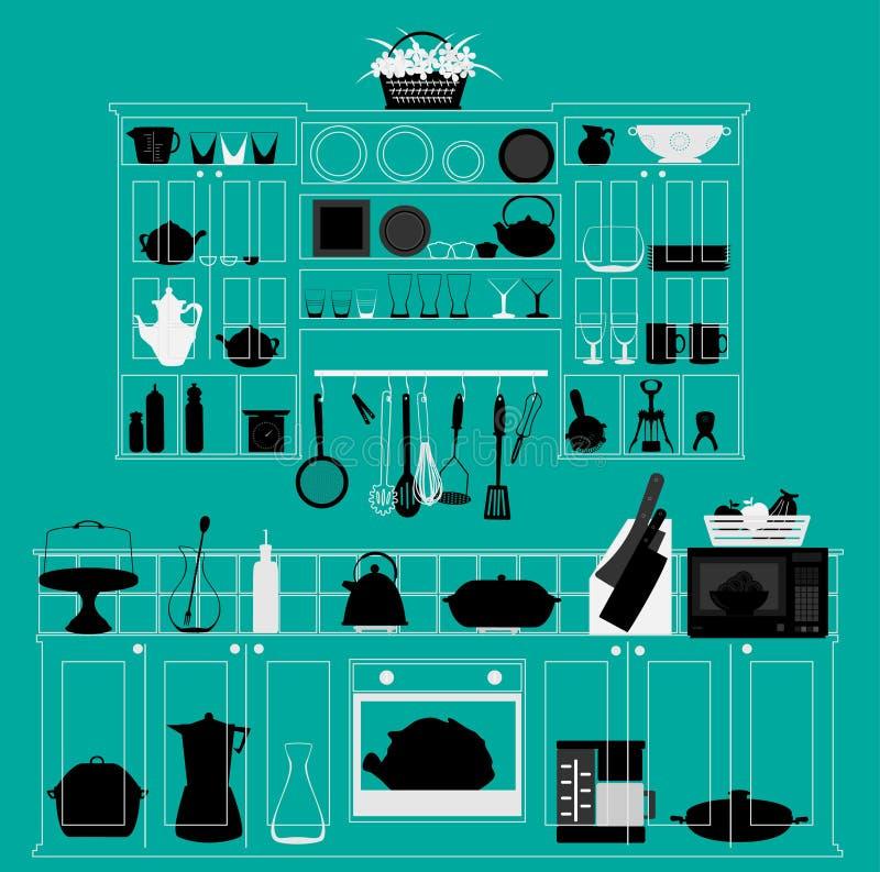 厨房 向量例证
