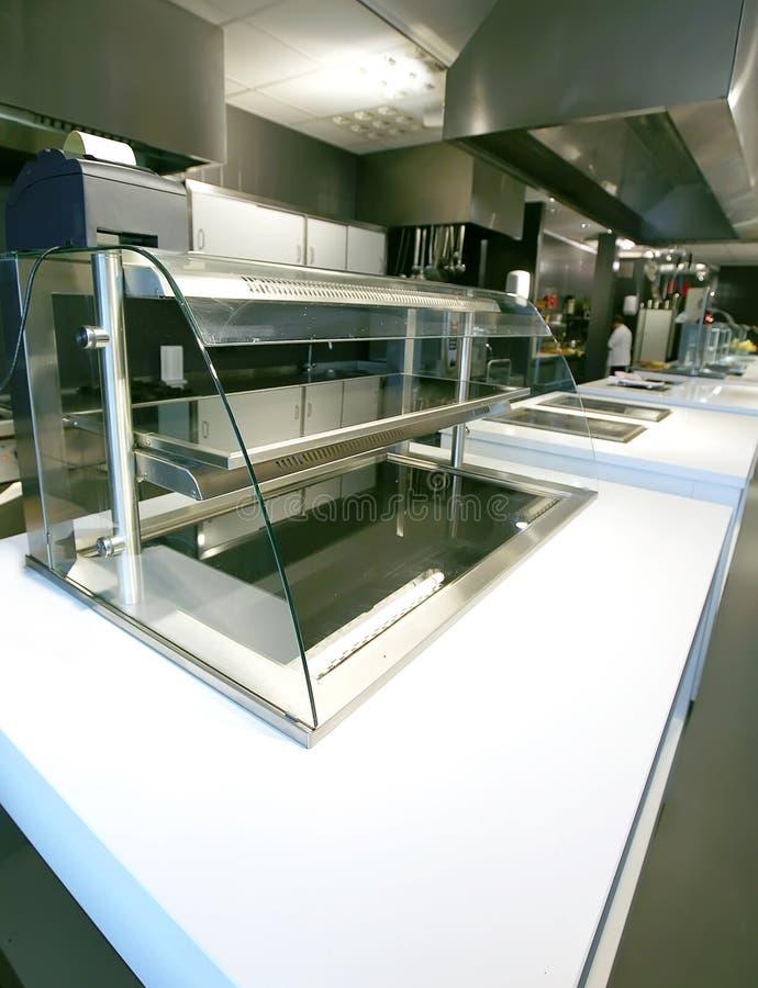 厨房vitrine 免版税库存图片