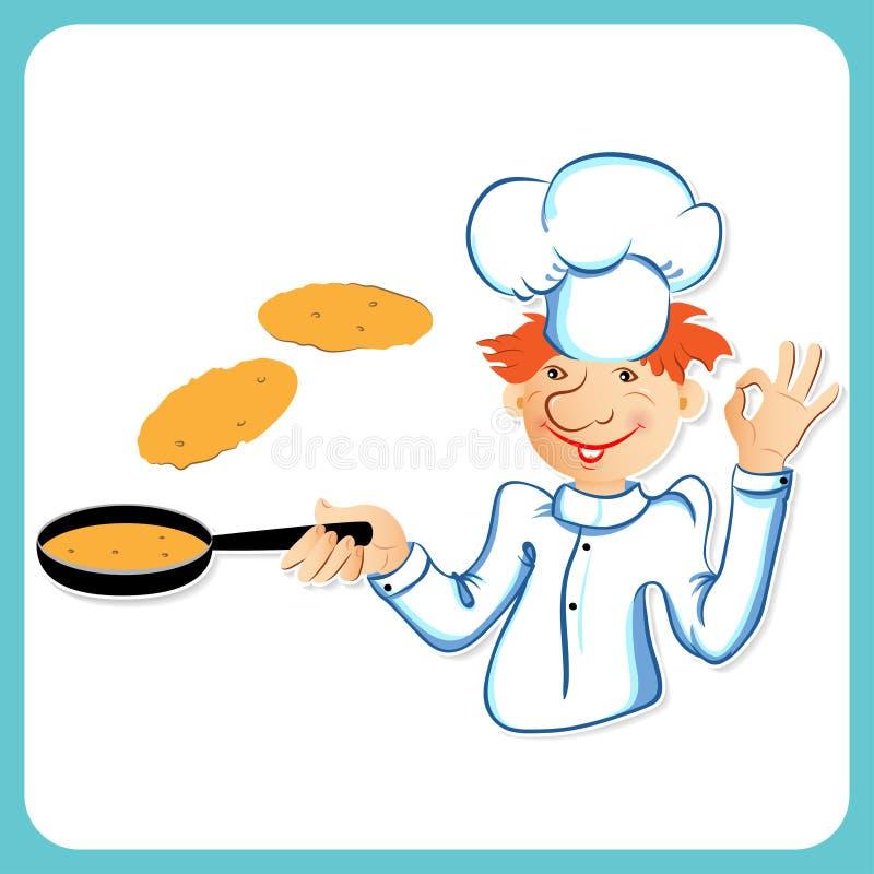 主厨用薄煎饼 皇族释放例证