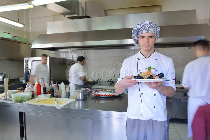 主厨食物准备 免版税库存照片