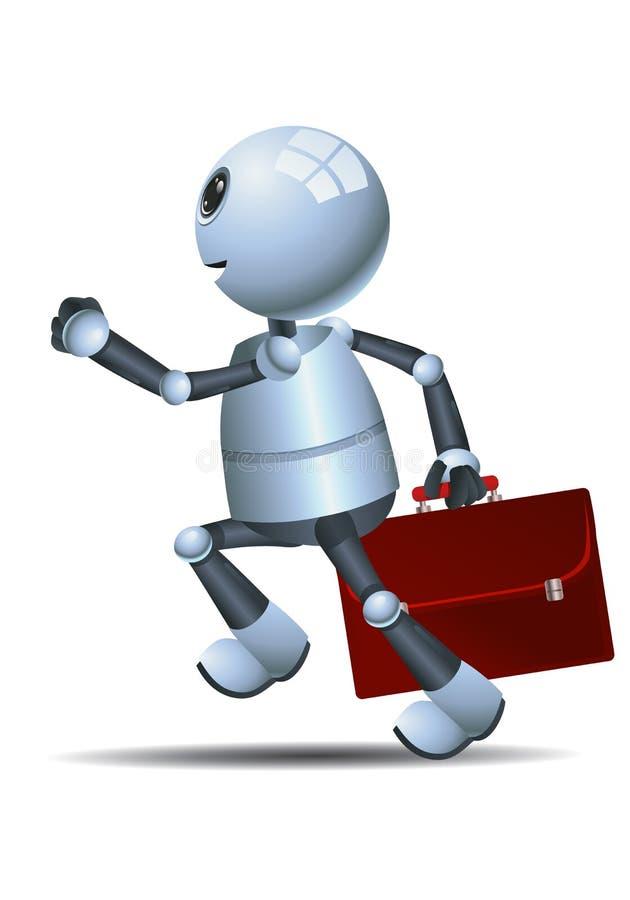 去学校赛跑的一点机器人 库存例证