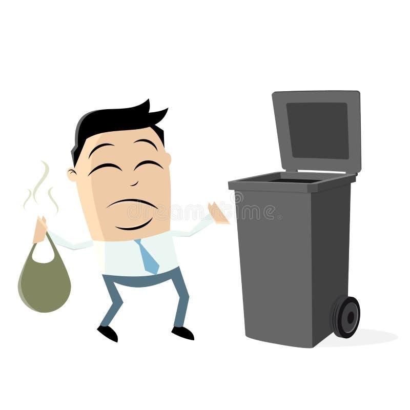 去掉垃圾的不快乐的人 皇族释放例证