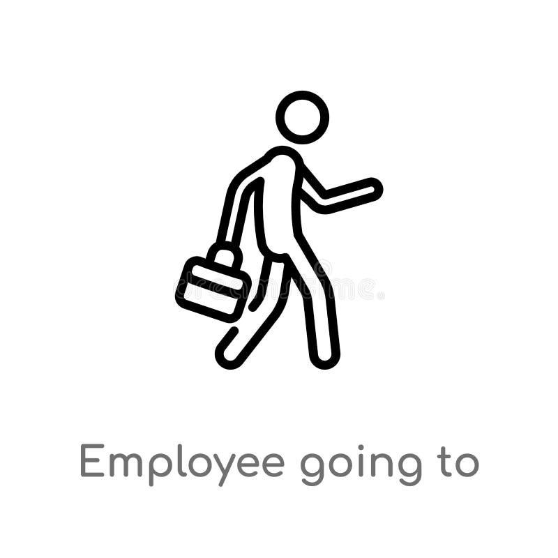去概述的雇员工作传染媒介象 E E 库存例证