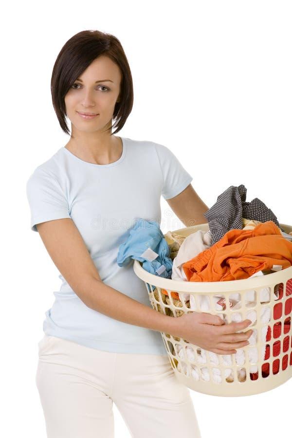 去洗衣店我意志您 免版税库存照片