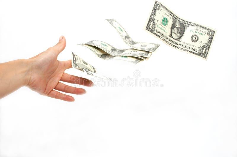 去货币采取您 免版税库存照片