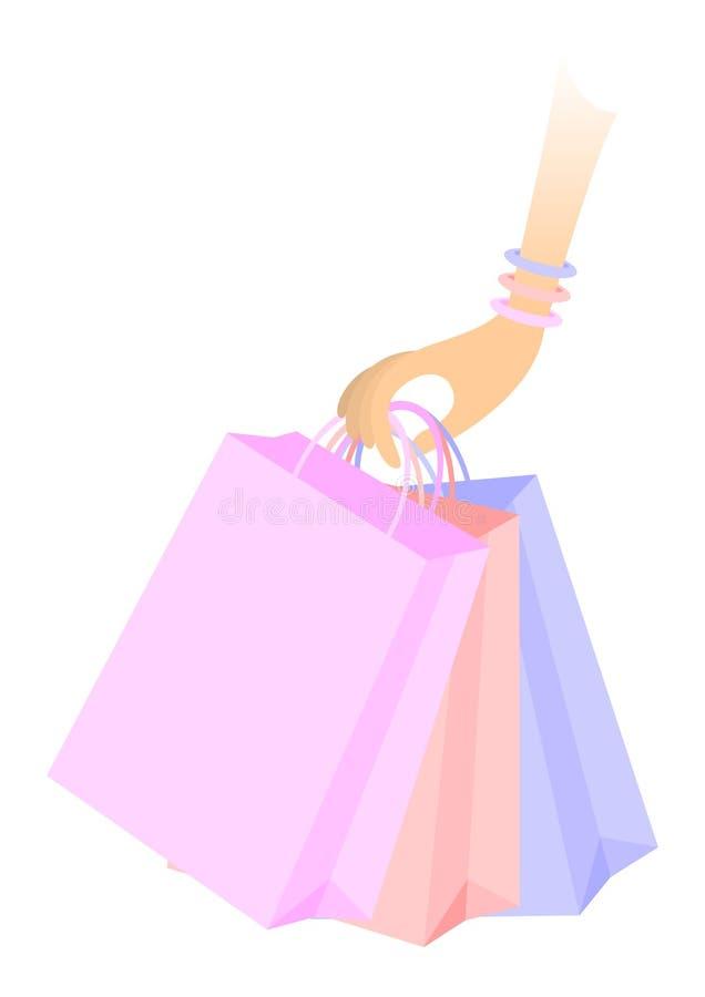 去购物 库存例证