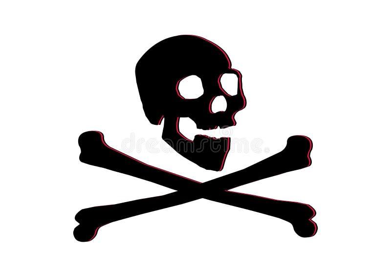 去骨海盗旗头骨 皇族释放例证