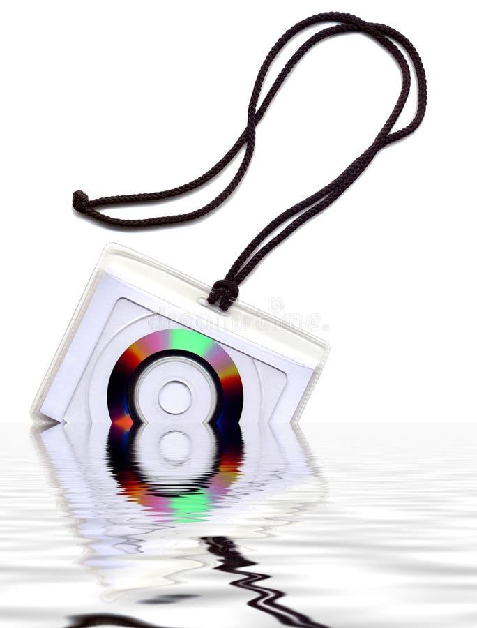 去CD的绳子剪切盘 库存照片