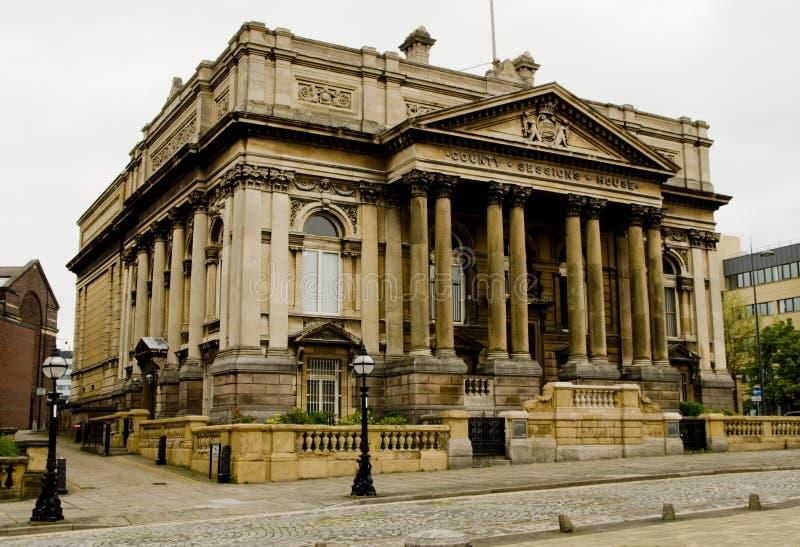 县会议议院在威廉布朗街,利物浦,英国 免版税库存图片