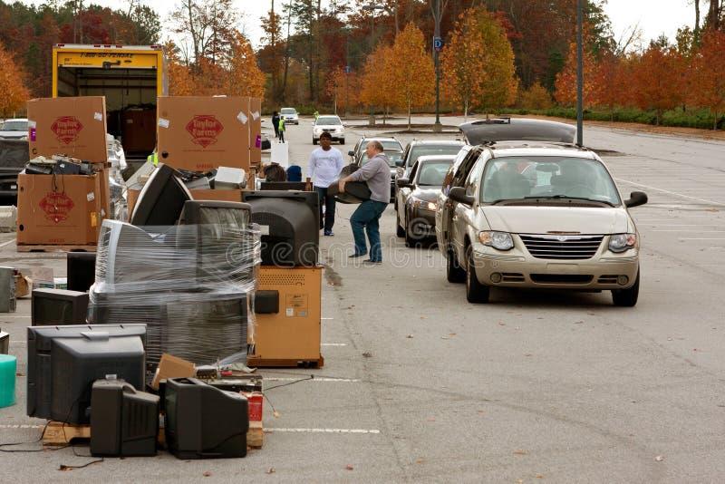县居民投下回收的事件项目 库存照片