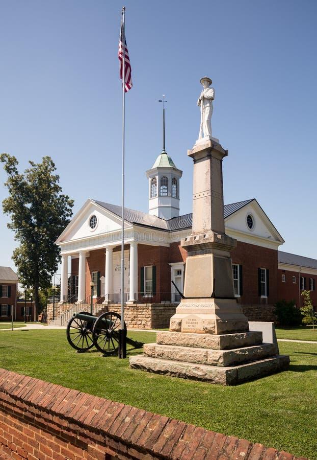 县法院议院Appomattox弗吉尼亚 库存图片