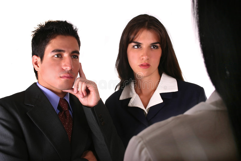 参加女实业家客户机二 免版税库存图片