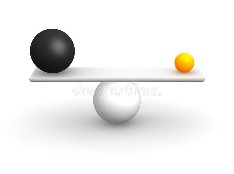 参差不齐平衡的球 向量例证