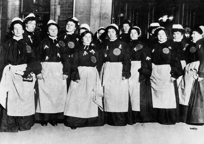 参政权妇女(所有人被描述不更长生存,并且庄园不存在 供应商保单将没有模型 库存照片