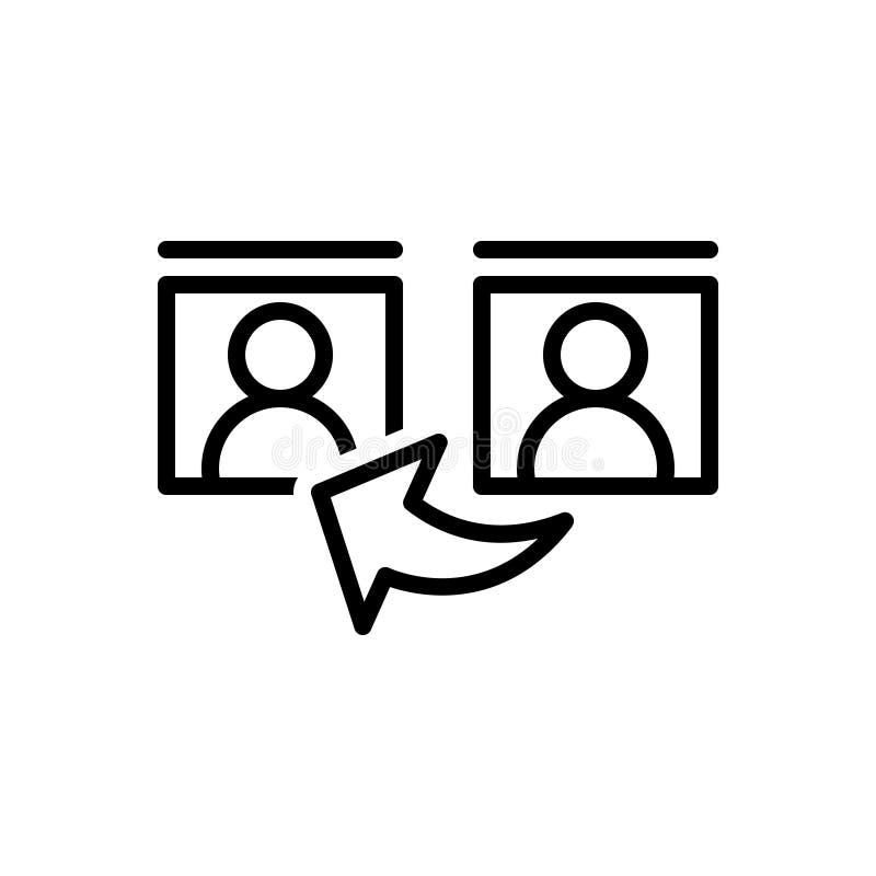参考、证词和通信的黑线象 库存例证